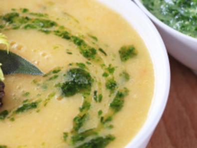 Супа пюре от зрял фасул