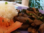 Гъби с ориз и лапад