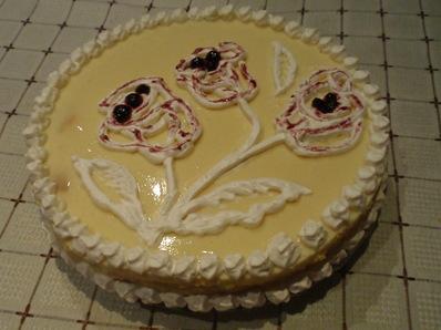 Торта с ванилов пудинг