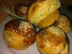 Чеснови билкови хлебчета Гъбки