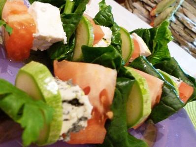 Шишчета със спанак и синьо сирене