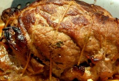 Печено пикантно свинско
