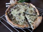 Тарта с гъби и зелен лук