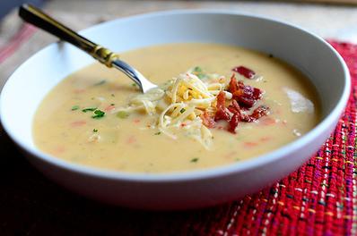 Полу-крем супа от картофи с бекон