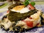Яйчени гнезда с лапад и сирене