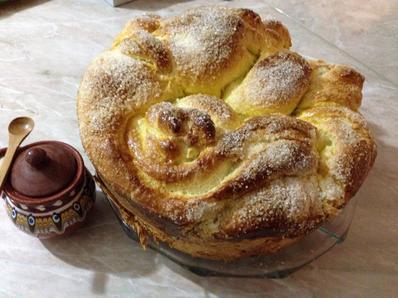 Козунак във фурна за хляб