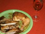 Пикантно пиле с цикория