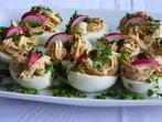 Пълнени яйца с лимон и риба тон