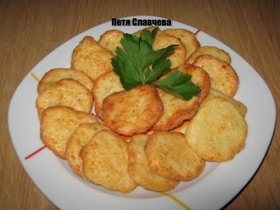 Бисквитки от кашкавал