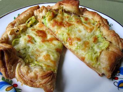 Тарта от бутер тесто с тиквички