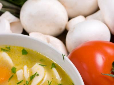 Супа от гъби и грах