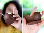 Шоколадови купички за сладолед и крем (снимки)