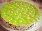 Торта с грозде без печене