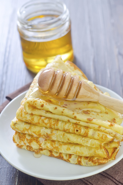 Портокалови палачинки с мед