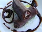 Орехово руло с шоколадов крем