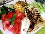 Мешана салата с тиквички на грил
