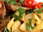 Печени картофи с подправки и пармезан