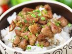 Телешко с грах и ориз