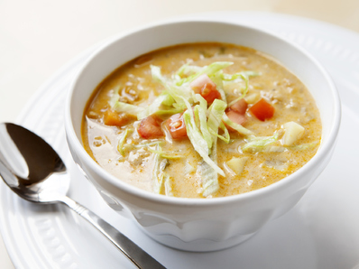 """Чийсбургер"" супа с бекон"