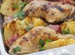 Пиле в бекон с картофи