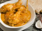 Пилешки бутчета с къри
