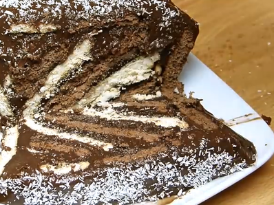 Красива бисквитена торта с домашен крем
