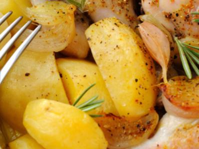 Задушени картофи в микровълнова
