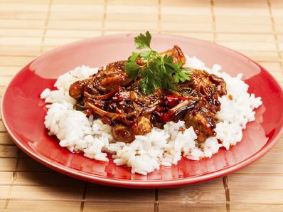 Сладко - кисело свинско с бял ориз
