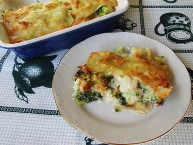 Лазаня с броколи и карфиол