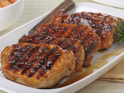 Глазирано и гриловано свинско