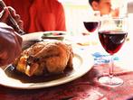 Пиле с вино (в тенджера под налягане)