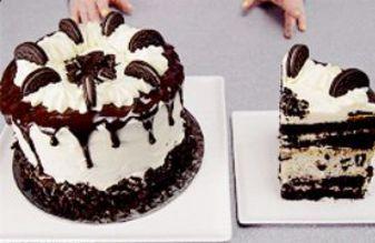 Тройна торта със сметана и бисквити