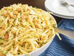 Спегети с билки, чили и яйца