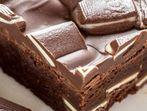 """Много шоколадово брауни """"Фантазия"""" с ментов пълнеж"""