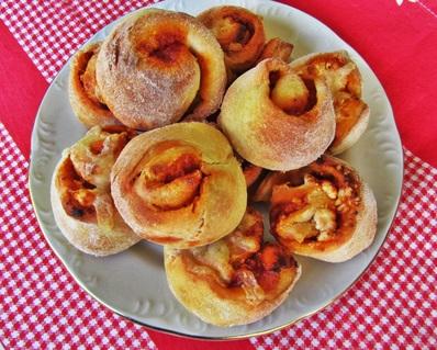 Печенки с песто и сирене