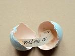 Яйце с послание