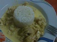 """Пиле """"Къри"""" с гарнитура от ориз"""