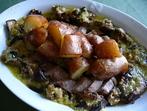 Свинско бон филе с пресни картофи