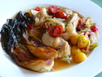 Пилешко със зеленчуци и пак чой