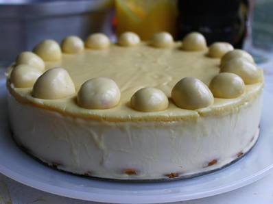 Торта Парфе с бял шоколад