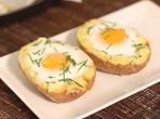 Печени картофи с яйца