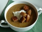 Крем супа от леща и сметана