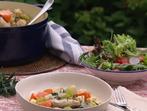 Френско ястие с пиле и зеленчуци