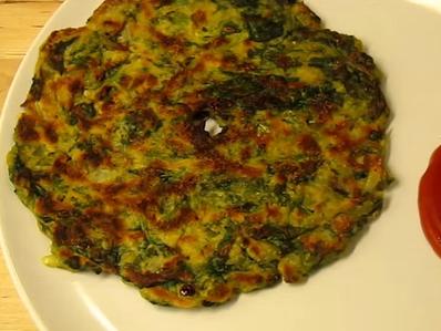 Индийска спаначена закуска