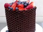 Глазура за торта с помощта на фолио с мехурчета
