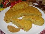 Нахутен соден хляб с чушки