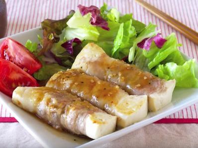 Салата с ролца от свинско с тофу