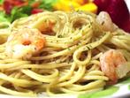 Спагети със скариди и чесън