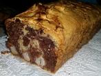 Мраморен кекс с круши