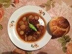 Лучена яхния с месо от сърна